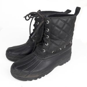 Sperry Black Quilted Duck Boots